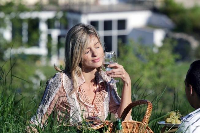 Weingenuss in der Natur